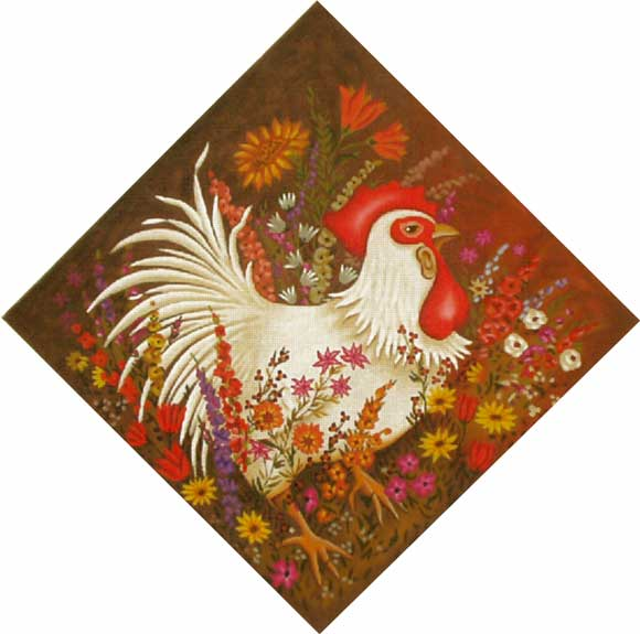 click here to view larger image of Chicken In the Garden (hand painted canvases)