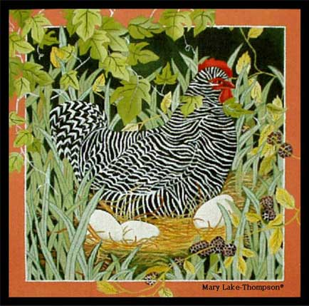 click here to view larger image of Hen and Eggs (hand painted canvases)
