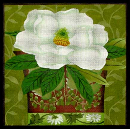 click here to view larger image of Floral Bouquet - Magnolia (hand painted canvases)