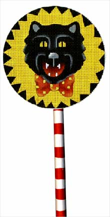 click here to view larger image of Cat Lollipop (with handpainted wooden stick) (hand painted canvases)