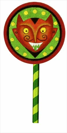 click here to view larger image of Devil Lollipop (with handpainted wooden stick) (hand painted canvases)