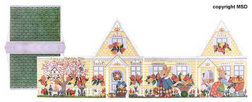 click here to view larger image of Easter House (hand painted canvases)