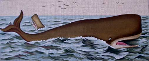 Vintage Whale hand painted canvases