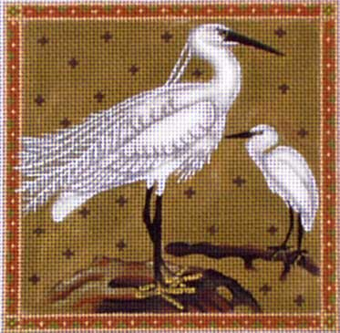 click here to view larger image of Egrets (hand painted canvases)