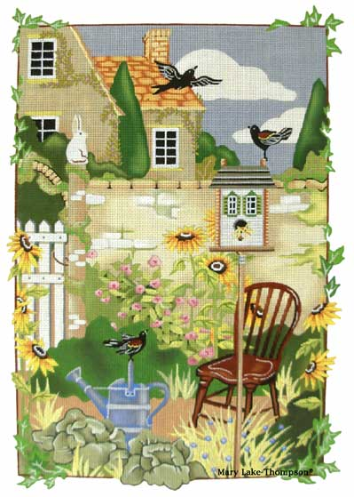 click here to view larger image of Garden Wall (hand painted canvases)