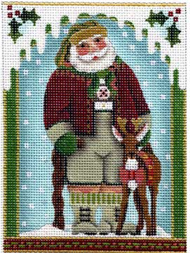 click here to view larger image of Alpine Santa (hand painted canvases)