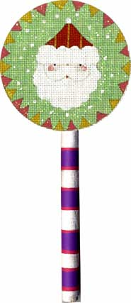 click here to view larger image of Santa Lollipop (hand painted canvases)