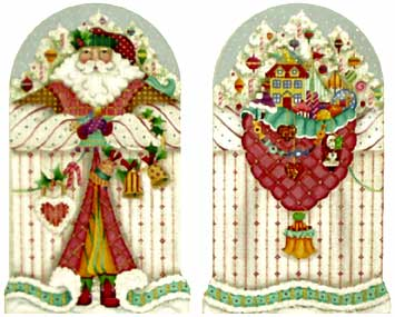 click here to view larger image of Peppermint Stick Santa (hand painted canvases)