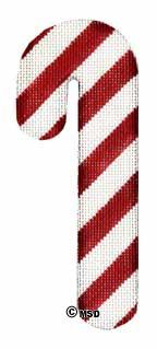 Classic Candy Cane - Wide Stripe hand painted canvases