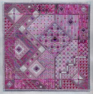 click here to view larger image of Amethyst Dreams (Includes Embnellishments) (counted canvas work)