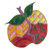 click here to view larger image of Whimsical Apple (hand painted canvases)