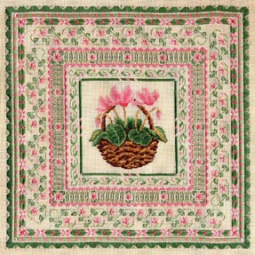 click here to view larger image of Pink Cyclamen  (counted canvas work)