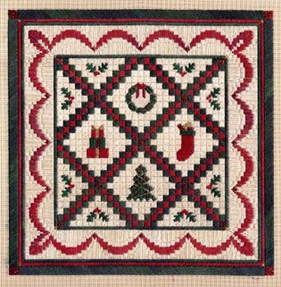 click here to view larger image of Christmas Quilt (counted canvas work)
