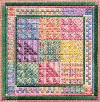 click here to view larger image of Color Study - Sawtooth Sampler (counted canvas work)