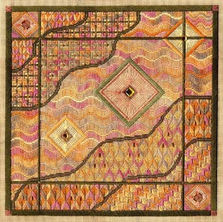 click here to view larger image of Amber Waves (Includes Embellishments) (counted canvas work)