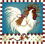 click here to view larger image of Cherry Wheat Chicken (hand painted canvases)