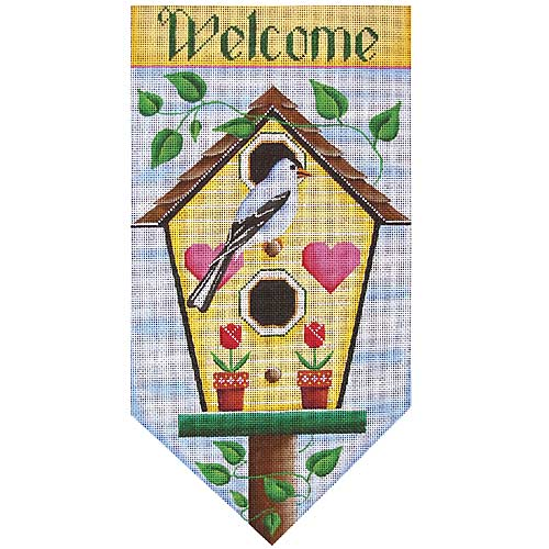 click here to view larger image of Welcome Banner (hand painted canvases)