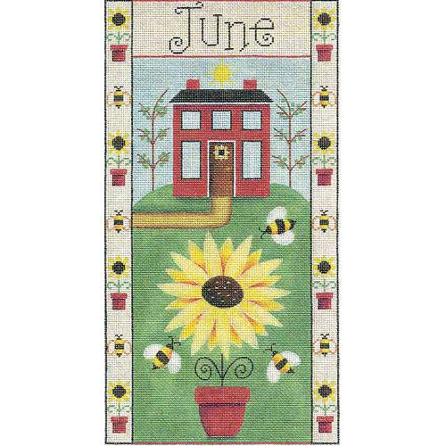 click here to view larger image of June Folk Banner (hand painted canvases)