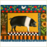 click here to view larger image of Black and White Papa Pig (hand painted canvases)