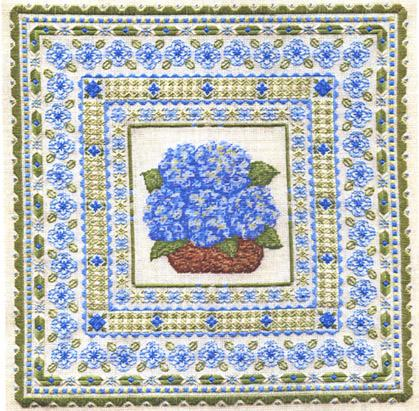 click here to view larger image of Blue Hydrangea (counted canvas work)