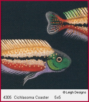 click here to view larger image of Cichlasoma Coaster (hand painted canvases)