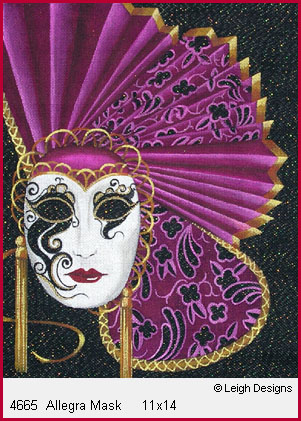 click here to view larger image of Allegra Mask (hand painted canvases)