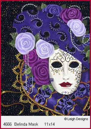 click here to view larger image of Belinda Mask (hand painted canvases)