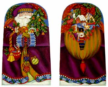 click here to view larger image of Fancy Santa (Standup) - 18 mesh (hand painted canvases)