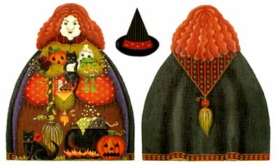click here to view larger image of Big Bad Witch - 18 mesh (hand painted canvases)