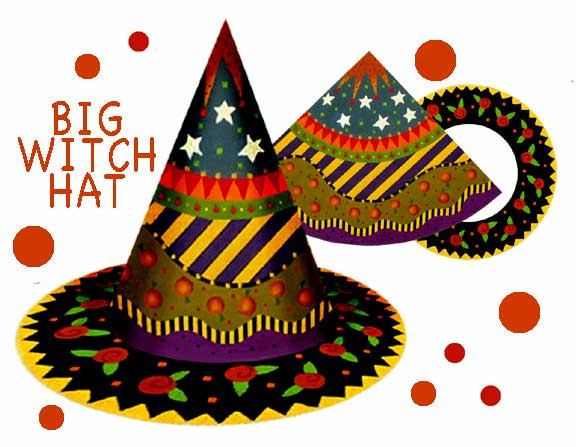 click here to view larger image of Big Witch Hat (hand painted canvases)