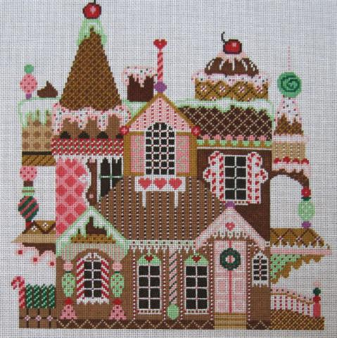 click here to view larger image of Gingerbread  Manor (hand painted canvases)