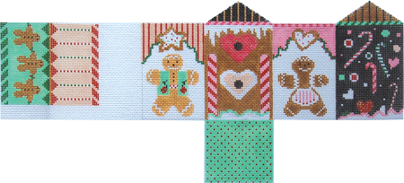 click here to view larger image of Whimsey Gingerbread House (hand painted canvases)
