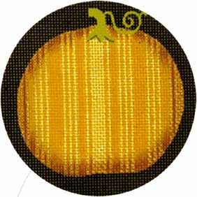 click here to view larger image of Fancy Pumpkins - Orange and Gold Stripes (hand painted canvases)