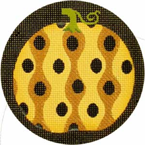 click here to view larger image of Fancy Pumpkins - Gold Wavy Spots (hand painted canvases)