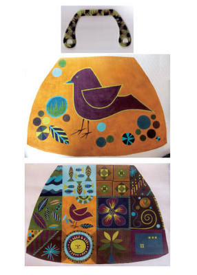 click here to view larger image of Big Bird Bag (hand painted canvases)