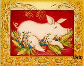 click here to view larger image of Cornish Pig (hand painted canvases)