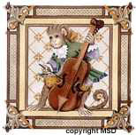 click here to view larger image of Cello  Monkey Pillow (hand painted canvases)