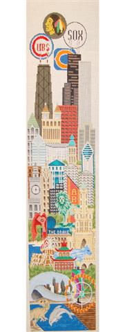 click here to view larger image of Bell Pull - Chicago (hand painted canvases)