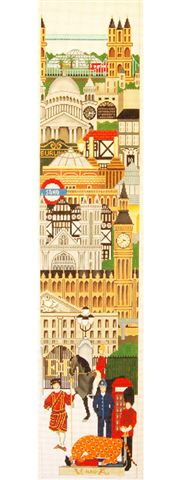 click here to view larger image of Bell Pull - London (hand painted canvases)