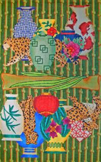 click here to view larger image of Purse - Leopard China Shop (hand painted canvases)