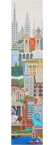 click here to view larger image of Bell Pull - New York (hand painted canvases)