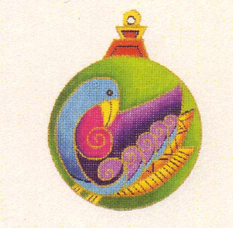 click here to view larger image of Bird Ornament (hand painted canvases)