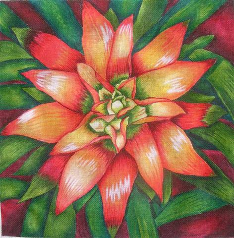 click here to view larger image of Bromiliad (hand painted canvases)