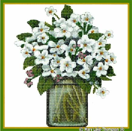 click here to view larger image of Bouquet White (hand painted canvases)
