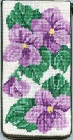 click here to view larger image of Sweet Violets Eyeglass Case (needlepoint kits)