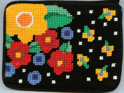 Floral Coin Purse needlepoint kits