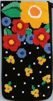 click here to view larger image of Floral Eyeglass Case (needlepoint kits)