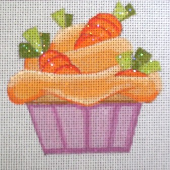 click here to view larger image of Carrot Cupcake (hand painted canvases)