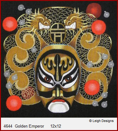 click here to view larger image of Golden Emperor  - Drama Dragon (hand painted canvases)