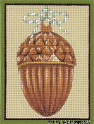 click here to view larger image of Acorn w/bow (hand painted canvases)